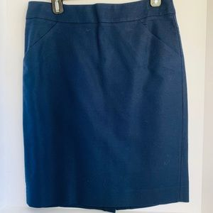 J Crew Navy Blue Size 8 Pencil Skirt